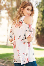 Load image into Gallery viewer, Peony Cold Shoulder Top