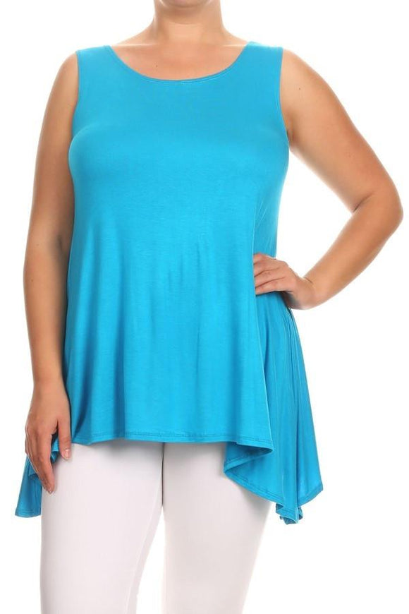 Sleeveless Tunic Tank Plus