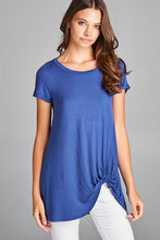 Solid Twist Knot Tunic Top