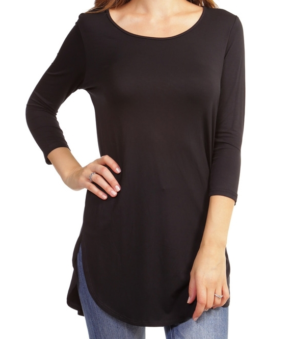 Tunic Tee 3/4 Sleeve