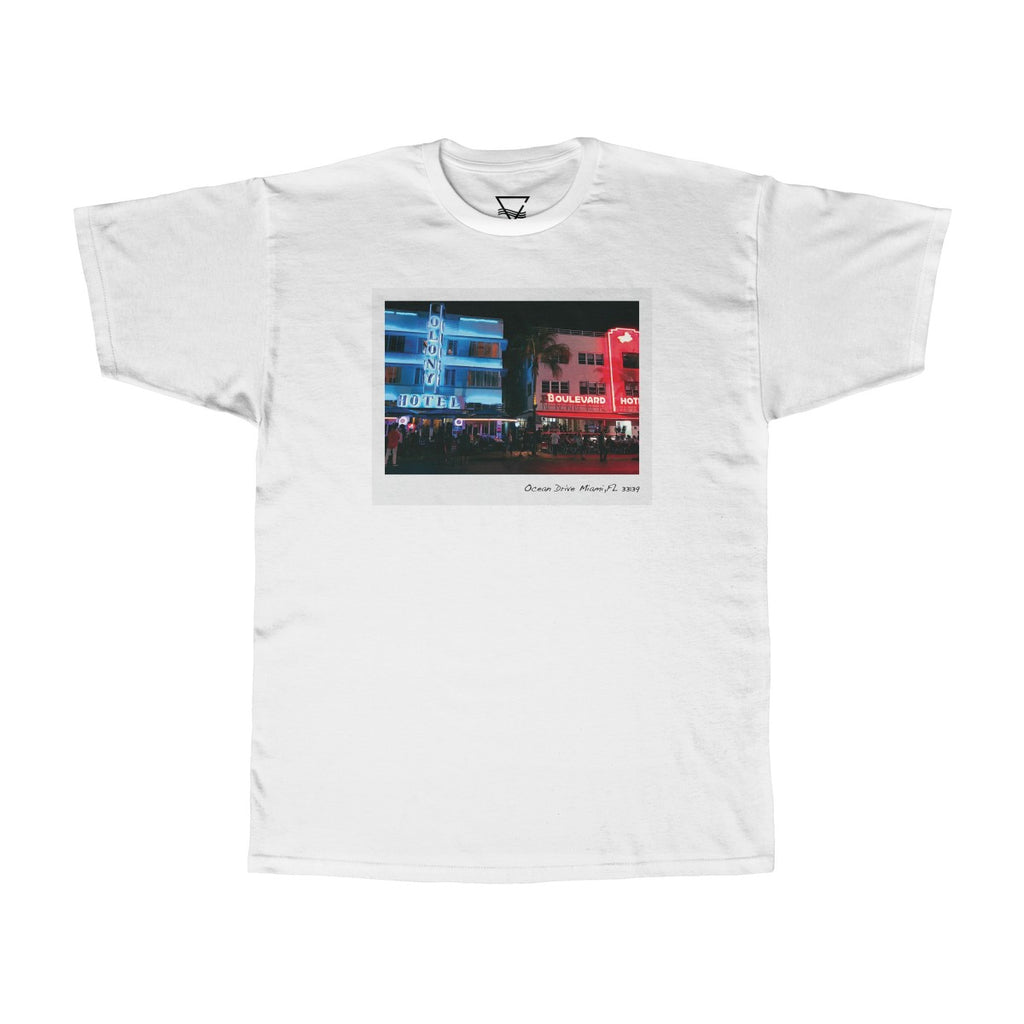 South Beach Nights T-Shirt - BLANK AND BLUE