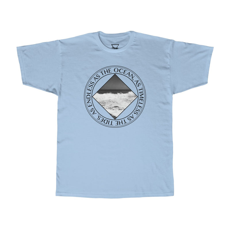 Ocean Tides T-shirt - BLANK AND BLUE