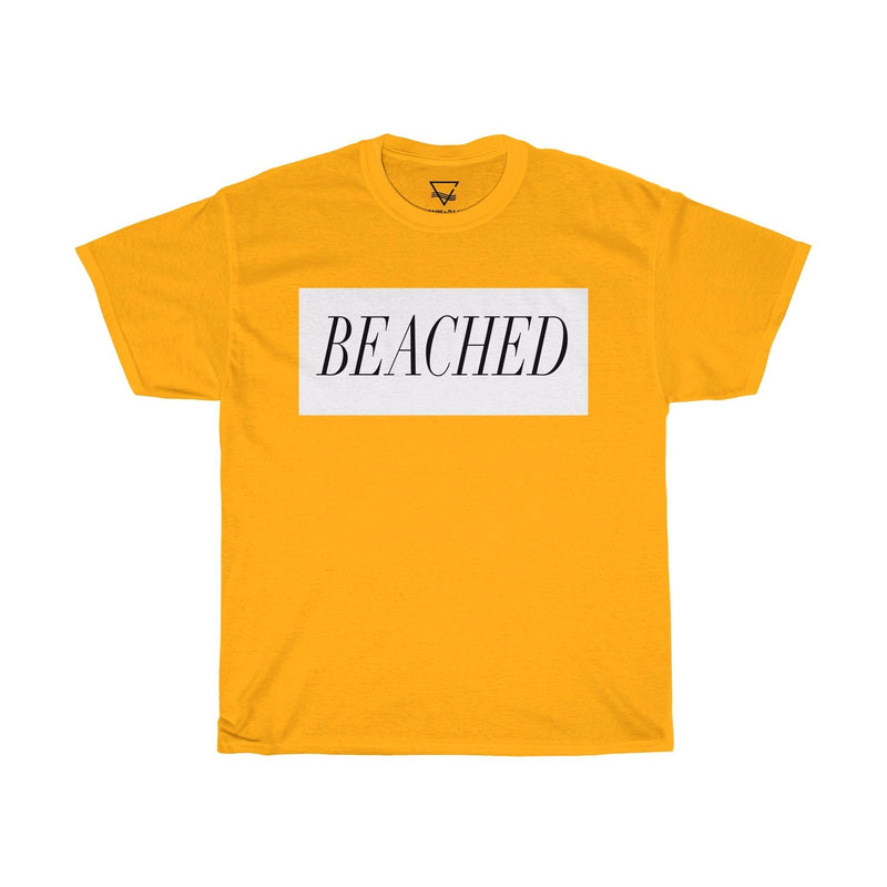 blank and blue yellow beached t shirt