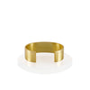 Kona Flat Cuff Bracelet - 14K Gold - BLANK AND BLUE