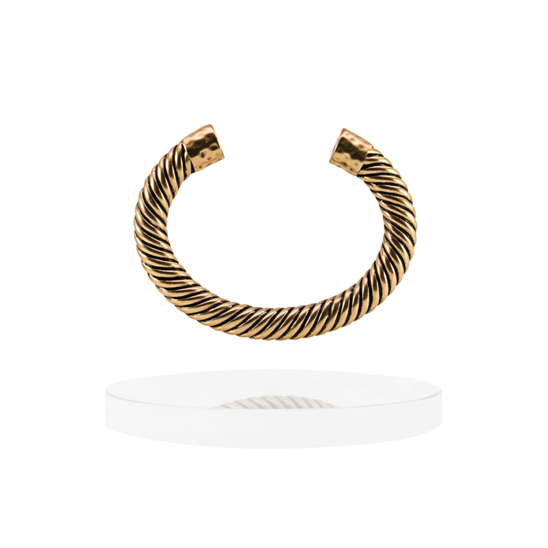 Atlantic Cable Cuff Bracelet - 14K Gold - BLANK AND BLUE