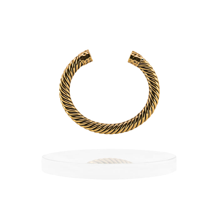 Atlantic Cable Cuff Bracelet - 14K Gold
