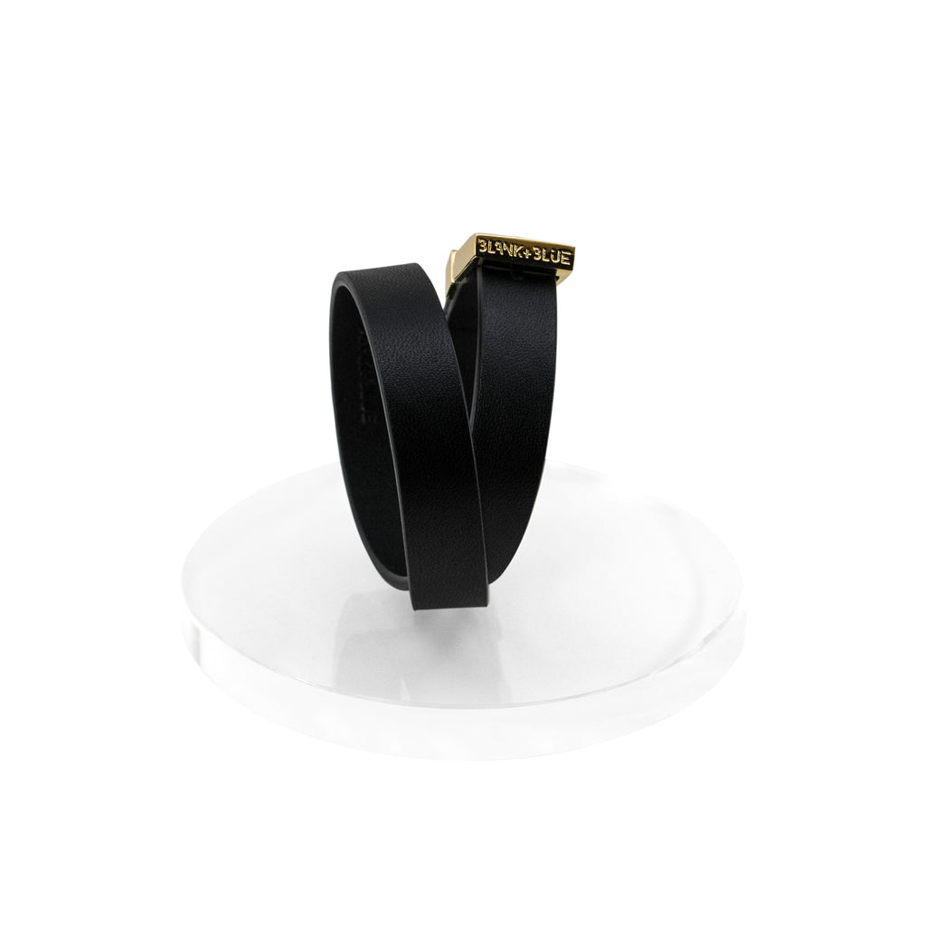 Ipanema Leather Double Wrap Bracelet - Gold