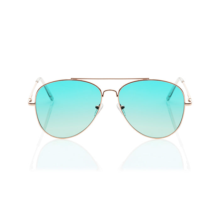 Sea Foam Daze Aqua Aviators - BLANK AND BLUE