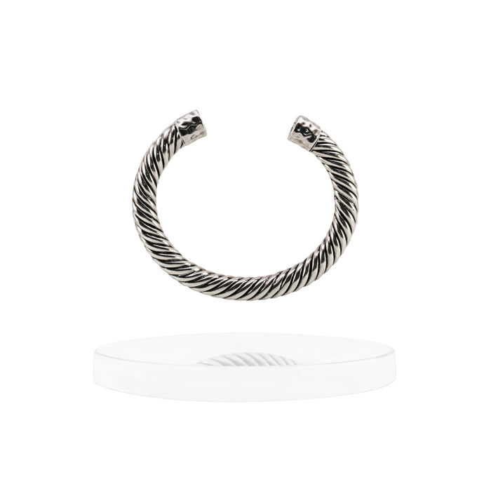 Atlantic Cable Cuff Bracelet - Silver