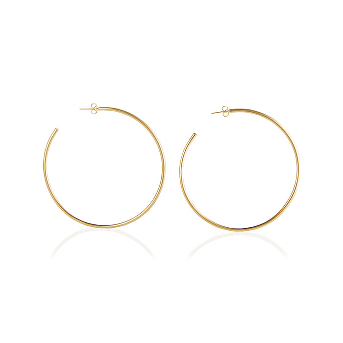 Seychelles Hoop Earrings - 14K Gold - BLANK AND BLUE