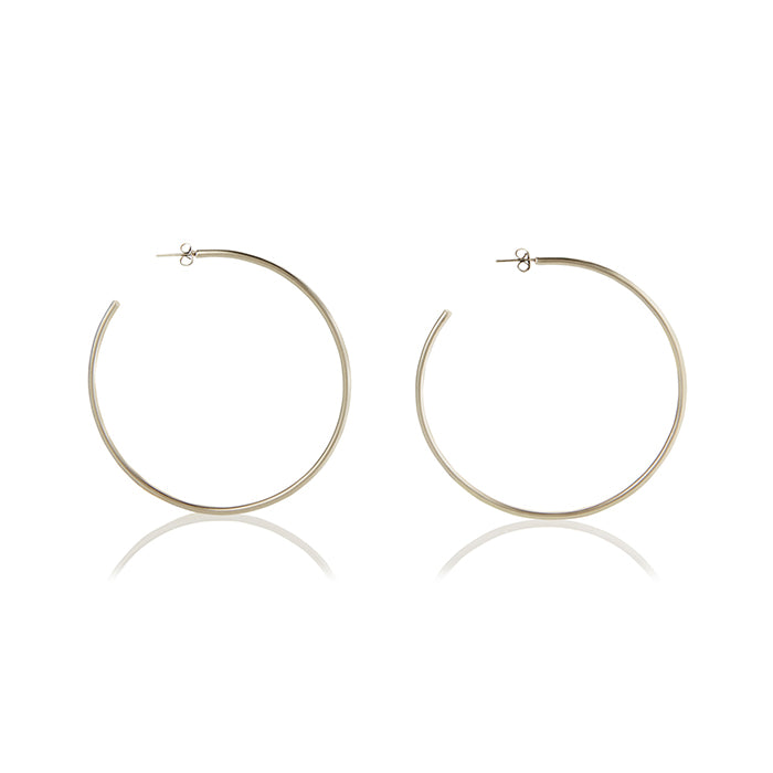 Seychelles Hoop Earrings - Silver - BLANK AND BLUE