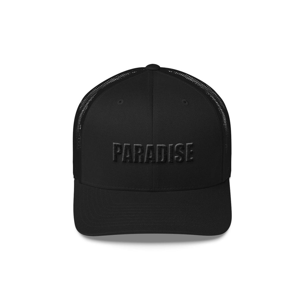 Paradise Trucker Cap - BLANK AND BLUE