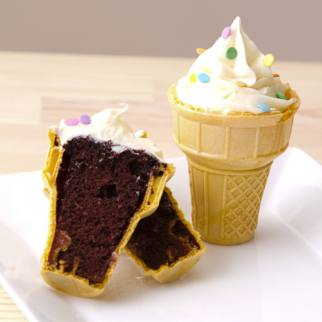 How to Make Cone Cakes Using Any Batter