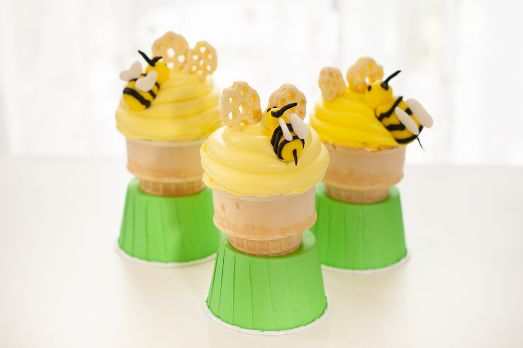 Honey Bee Cone Cakes