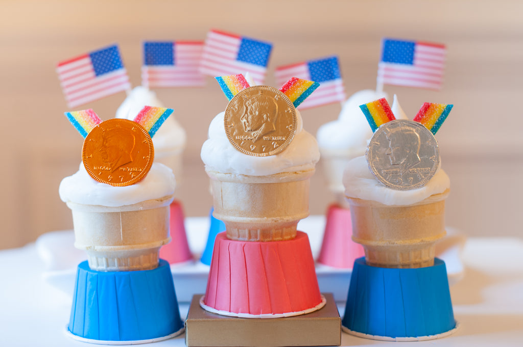 Olympic Medal cone cakes