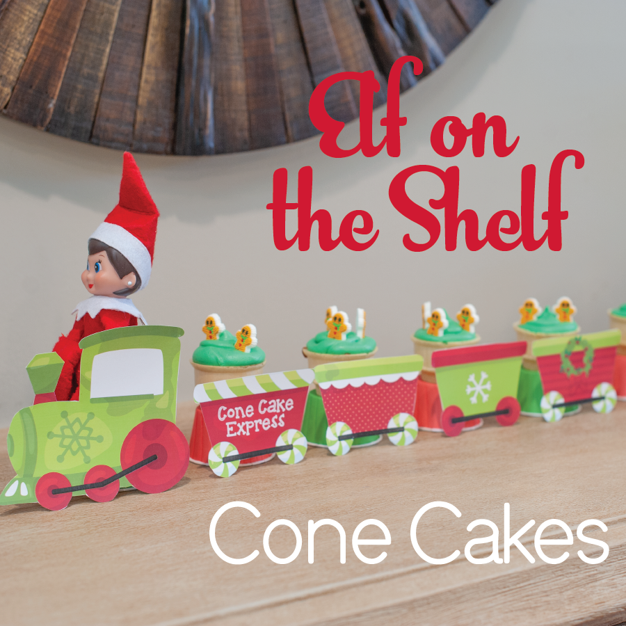 Elf on the Shelf Cone Cakes