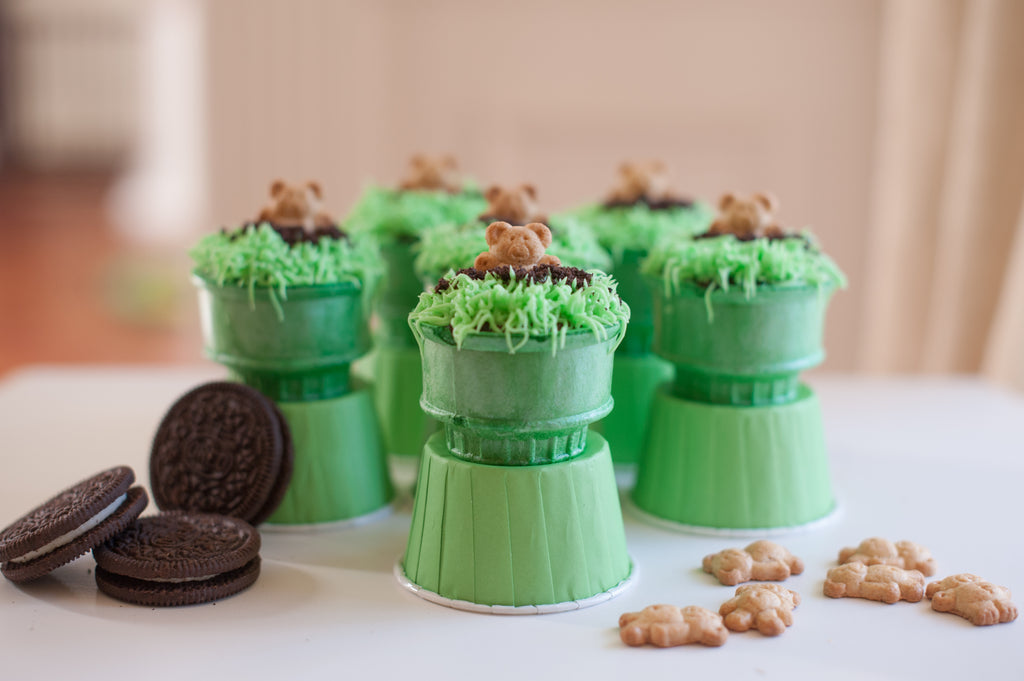 Groundhog Day Cone Cakes