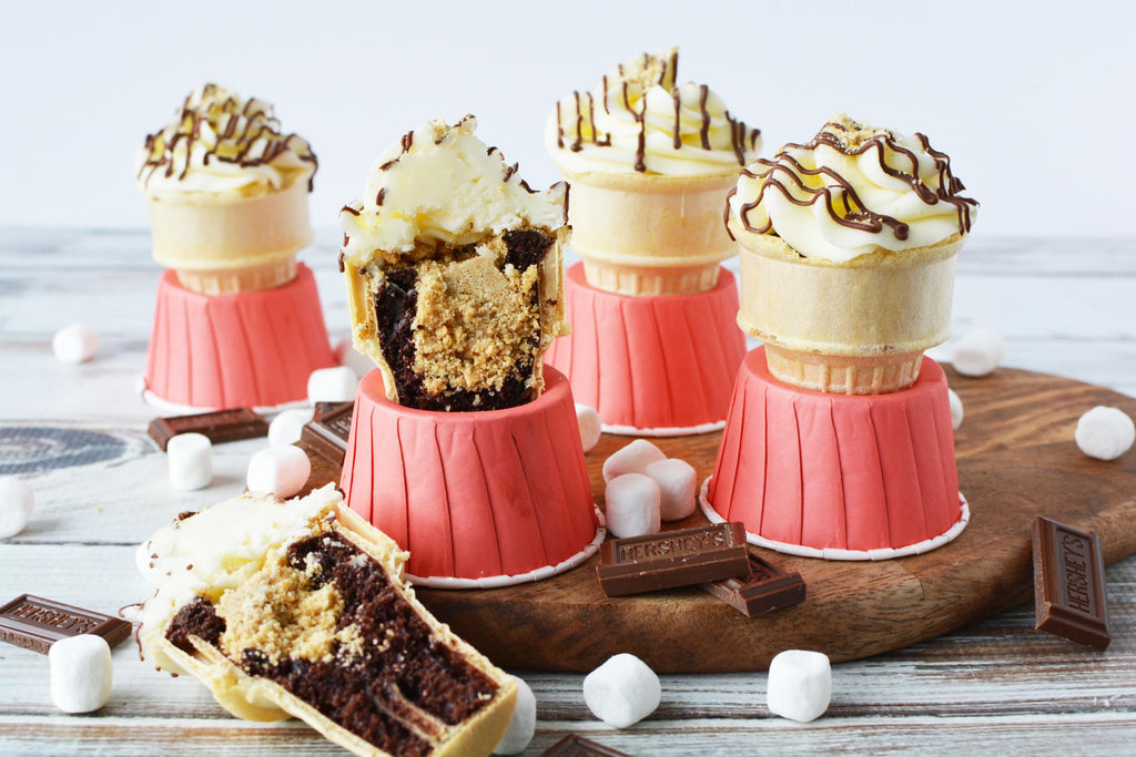 S'mores cone cakes