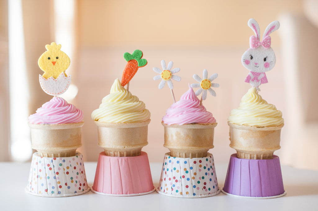 Adorable Easter Cone Cakes