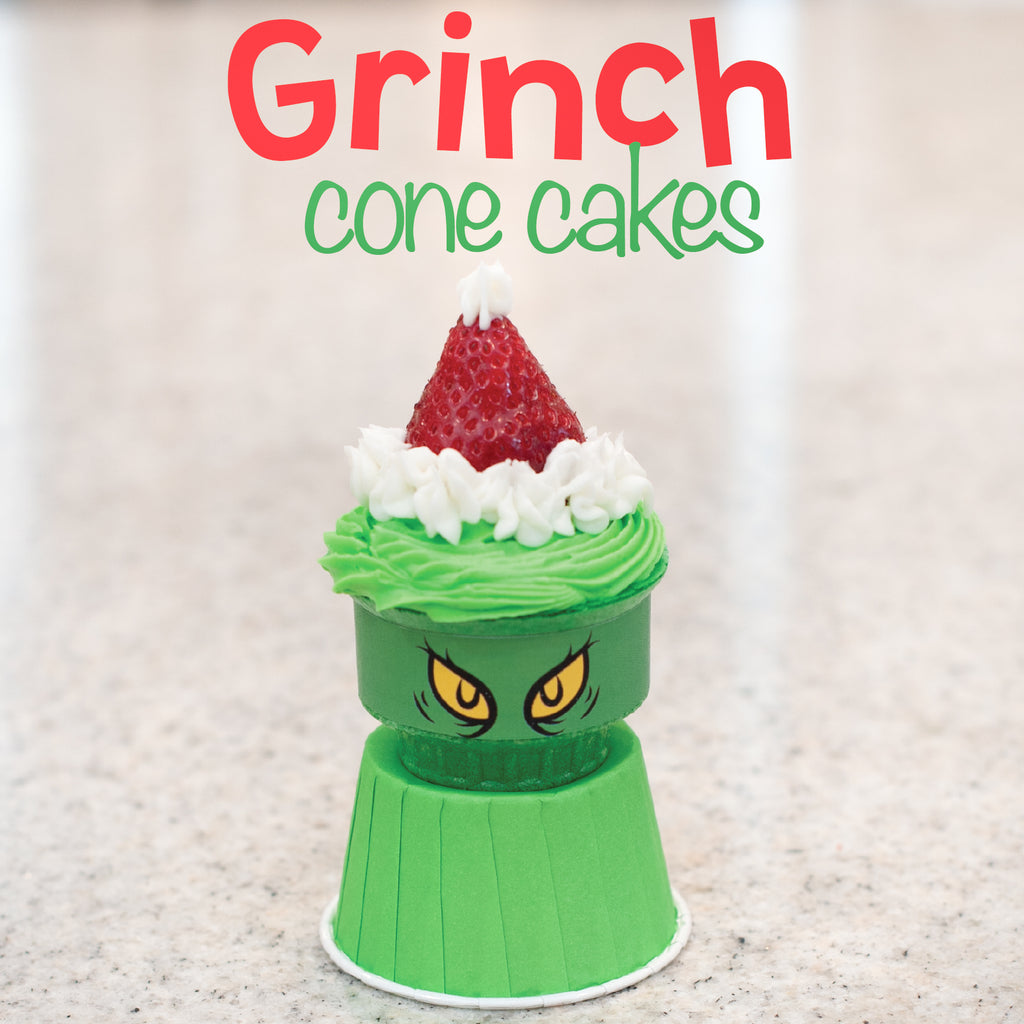 Grinch Cone Cakes