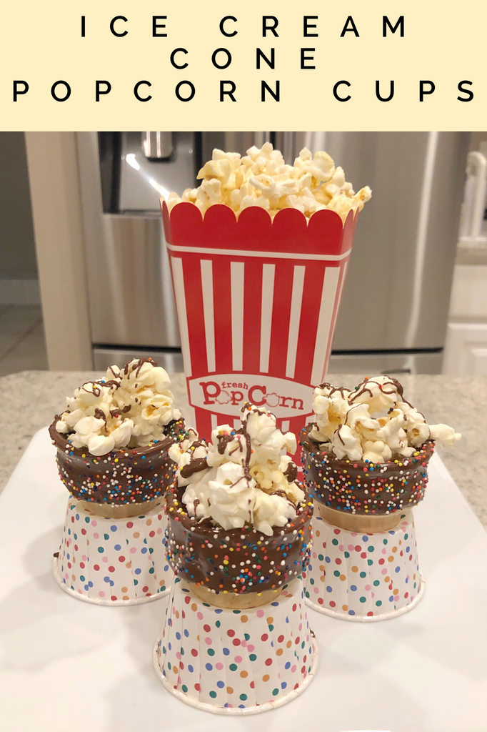 Ice cream cup popcorn cups