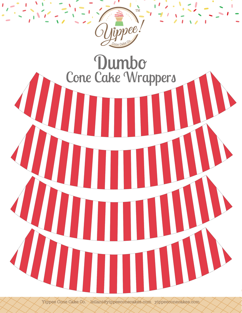 Dumbo Cone Cake Wrappers