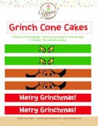 Grinch Cone Cakes Digital Download