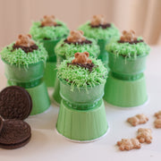 Green cone cake holders, set of 24