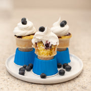 Blue cone cake holders, set of 24