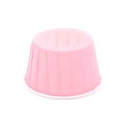 Pink cone cake holders, set of 24