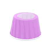 Purple cone cake holders, set of 24