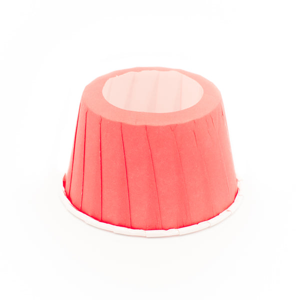 Red cone cake holders, set of 24