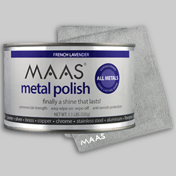 MAAS Metal Polish 1.1 lb Can (FREE Microfiber cloth)