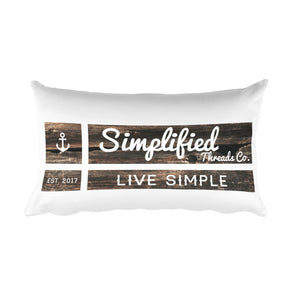 Wood Design Rectangular Pillow