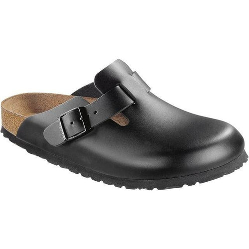 BIRKENSTOCK BOSTON BLACK SMOOTH LEATHER REGULAR getset-footwear.myshopify.com