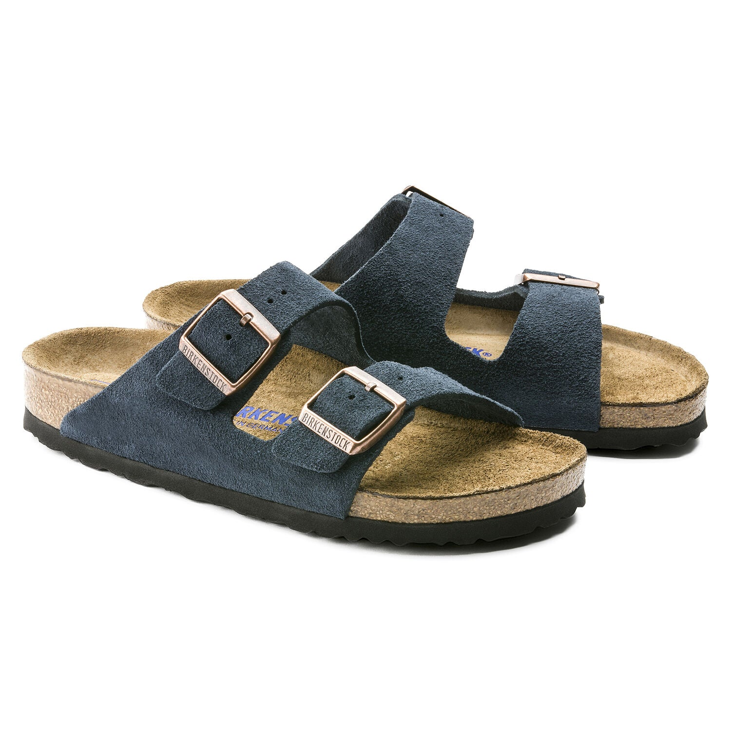 BIRKENSTOCK BIRKENSTOCK ARIZONA NAVY SUEDE LEATHER REGULAR SOFT FOOTBED getset-footwear.myshopify.com