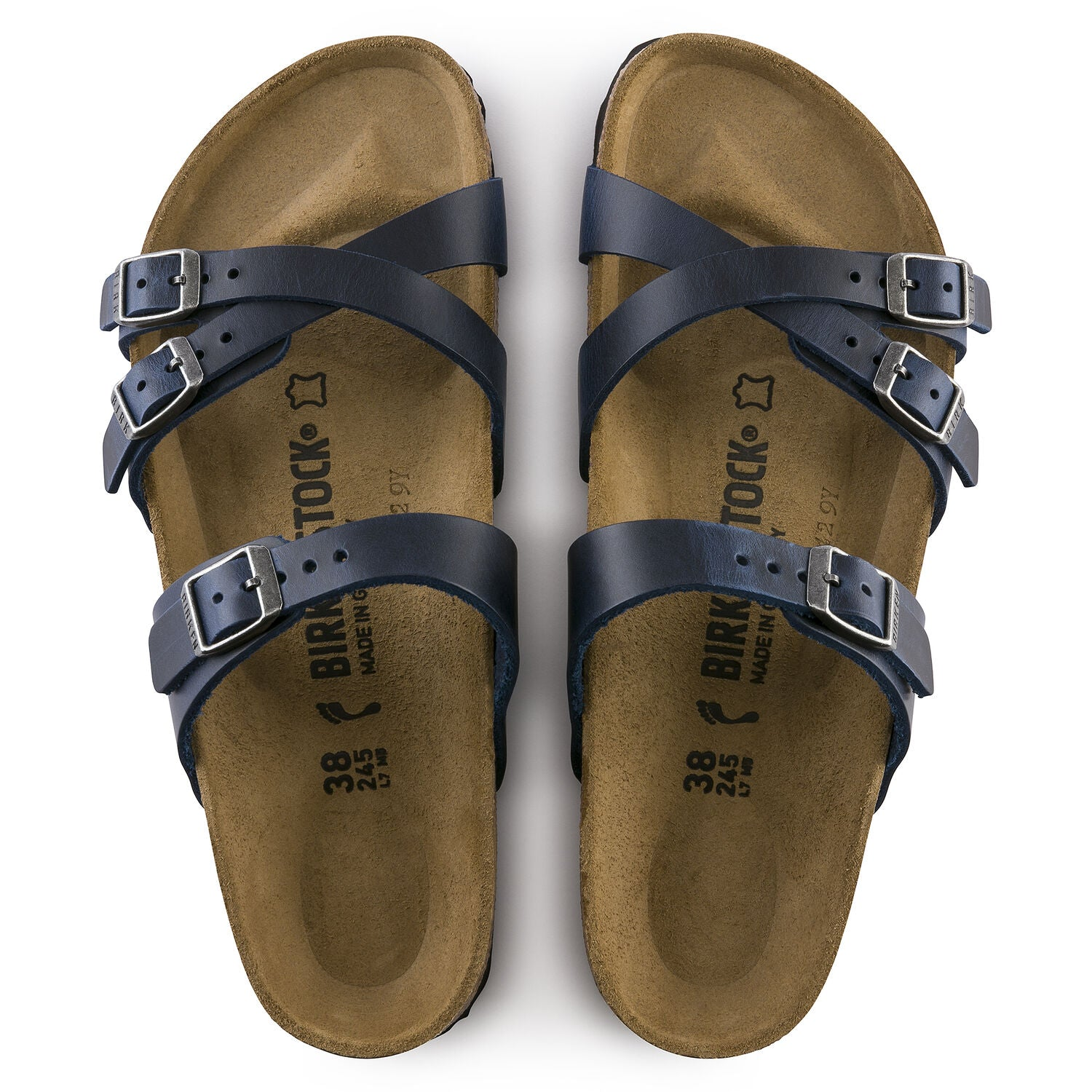 BIRKENSTOCK FRANCA BLUE OILED LEATHER NARROW