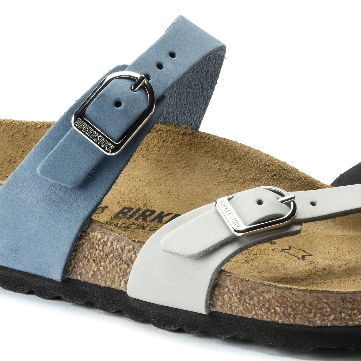 BIRKENSTOCK MAYARI DOVE BLUE MINERAL OILED LEATHER REGULAR