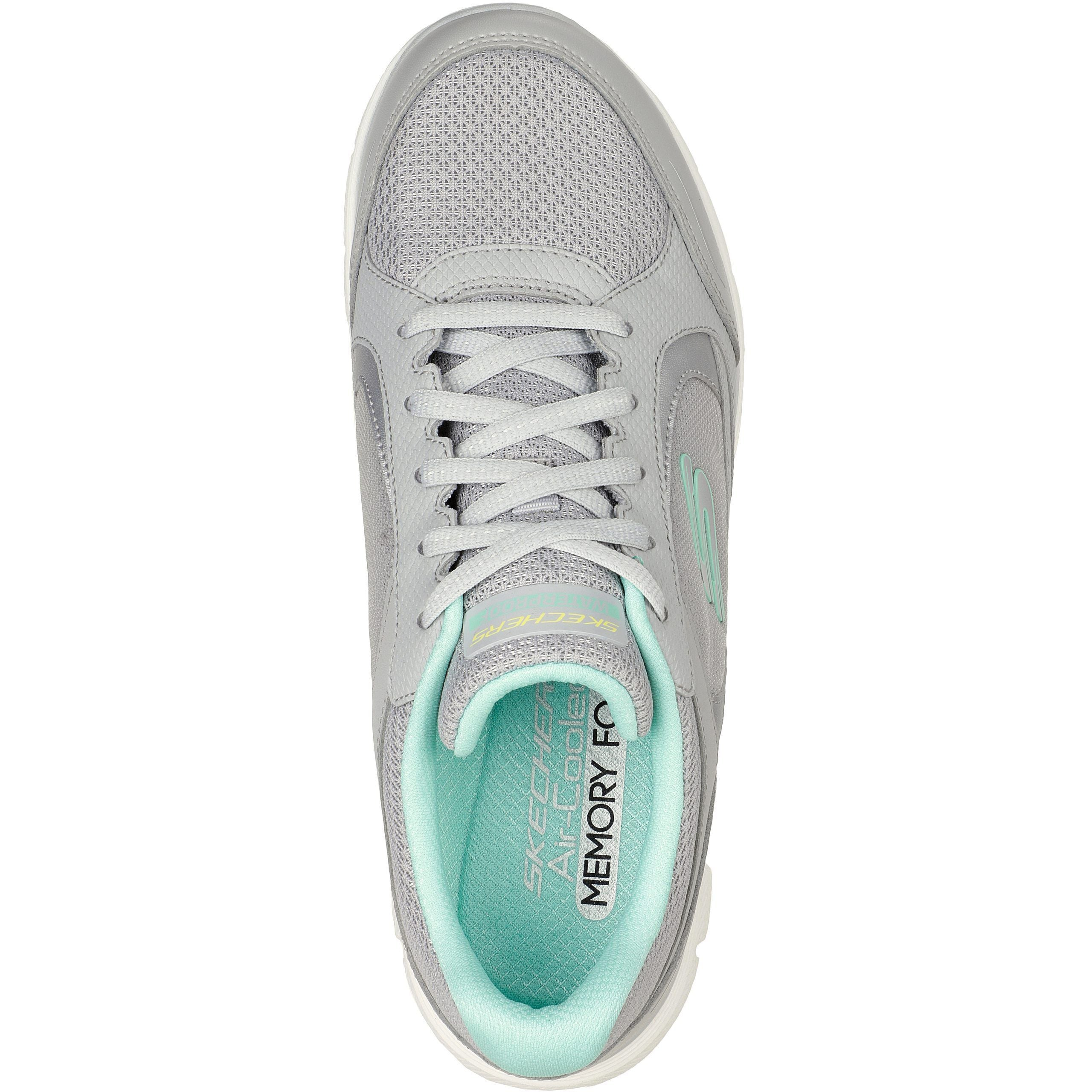 SKECHERS FLEX APPEAL 4.0 - TRUE CLARITY GREY/MINT - getset-footwear.myshopify.com
