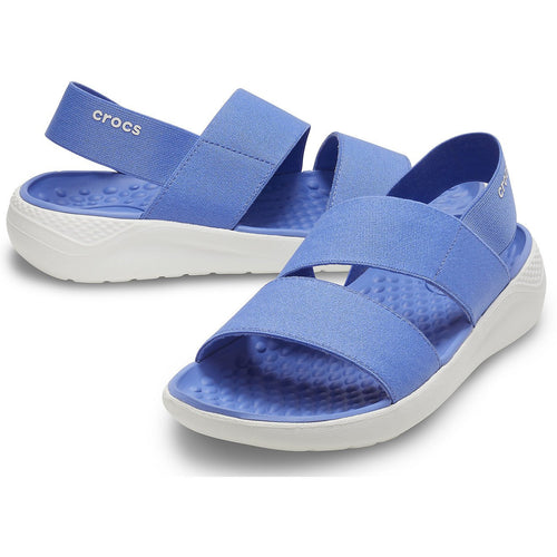 CROCS LITERIDE STRETCH SANDAL LAPIS WHITE