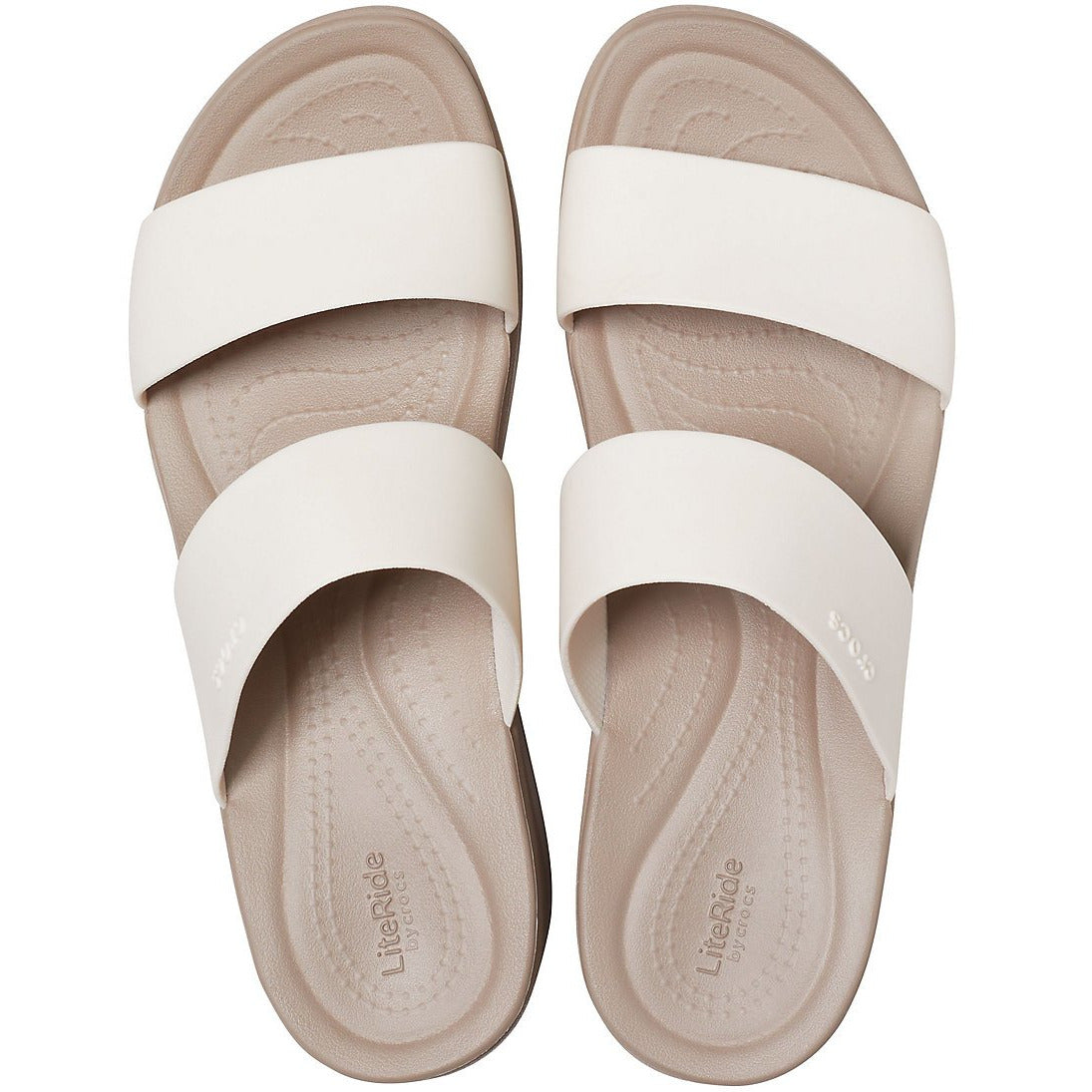 CROCS CROCS BROOKLYN MID WEDGE STUCCO/MUSHROOM getset-footwear.myshopify.com