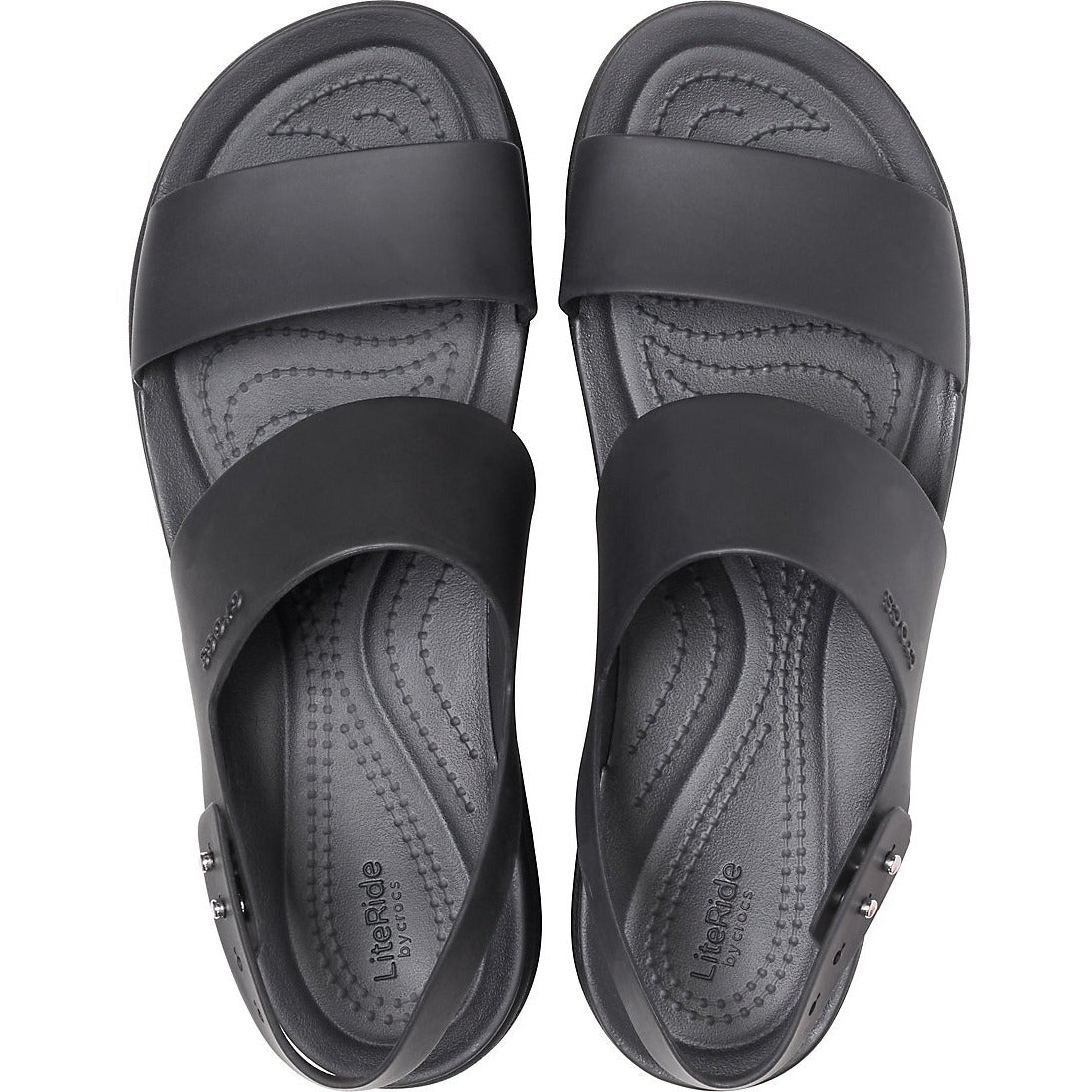 CROCS BROOKLYN LOW WEDGE BLACK/BLACK getset-footwear.myshopify.com