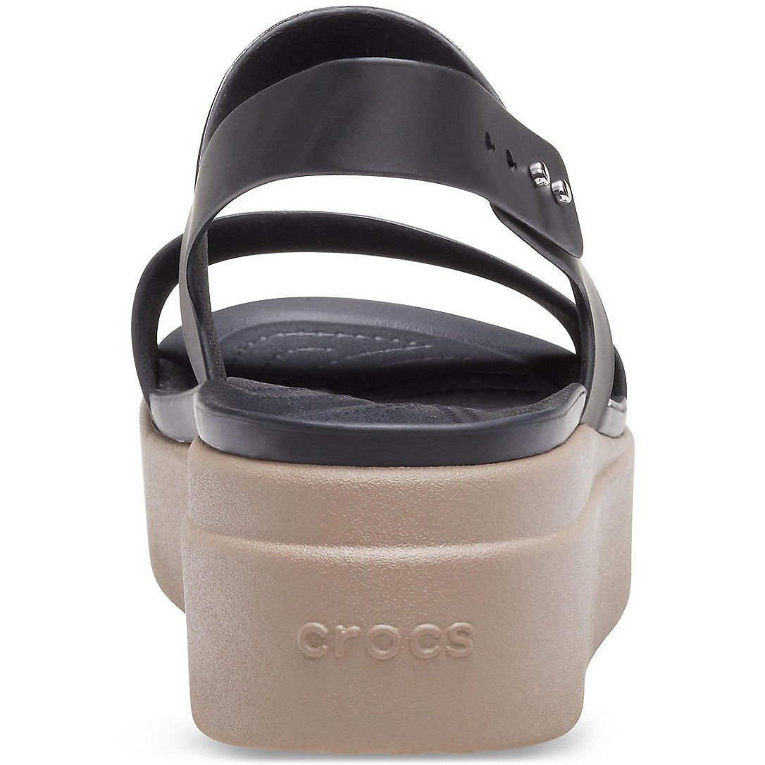 CROCS BROOKLYN LOW WEDGE BLACK/MUSHROOM