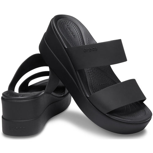 CROCS BROOKLYN MID WEDGE BLACK/BLACK - getset-footwear.myshopify.com
