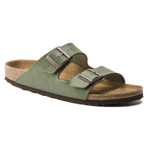 BIRKENSTOCK ARIZONA SADDLE GREEN VEGAN BIRKO-FLOR REGULAR getset-footwear.myshopify.com