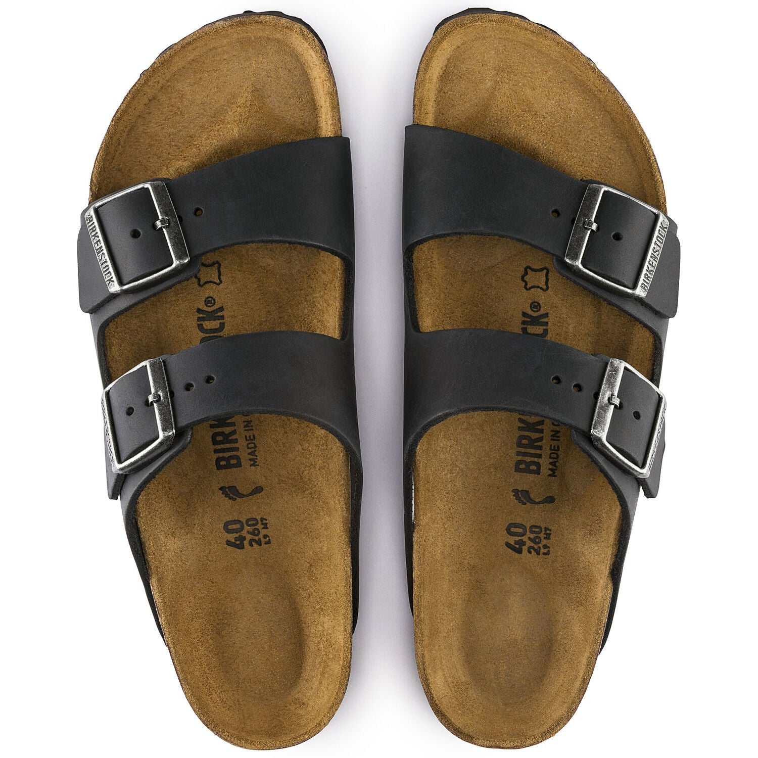 BIRKENSTOCK BIRKENSTOCK ARIZONA BLACK OILED LEATHER REGULAR getset-footwear.myshopify.com
