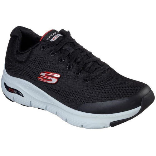 SKECHERS ARCH FIT BLACK RED
