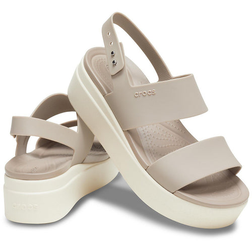 CROCS CROCS BROOKLYN LOW WEDGE MUSHROOM/STUCCO getset-footwear.myshopify.com
