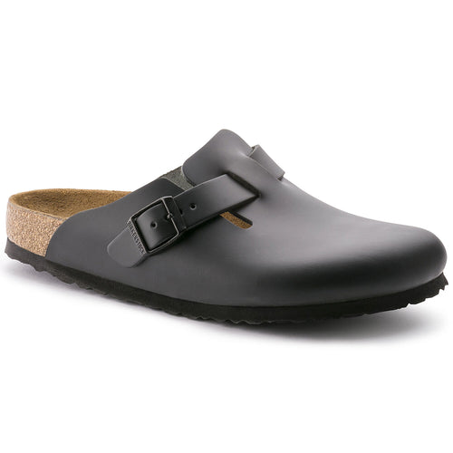 BIRKENSTOCK BOSTON BLACK SMOOTH LEATHER NARROW getset-footwear.myshopify.com