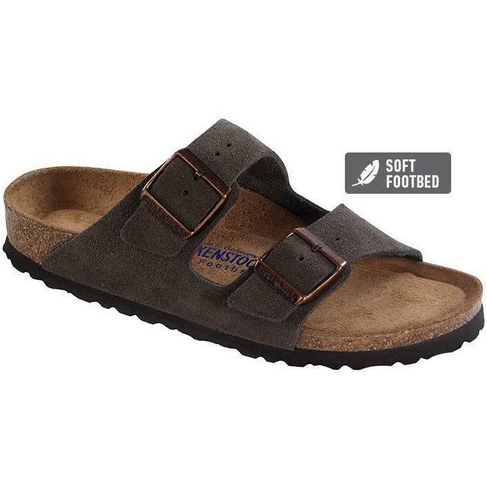 ARIZONA MOCCA SUEDE LEATHER REGULAR SOFT FOOTBED - getset-footwear